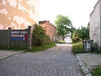 Vjezd z ulice Mikulášská